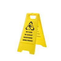 Multi Language Wet Floor Sign Hi-Vis Yellow