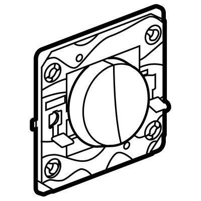 Arteor (Single Pole) 20Amp Way Gang Switch Round - White | LV0501.0006
