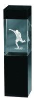 18cm Crystal 3D Soccer Trophy