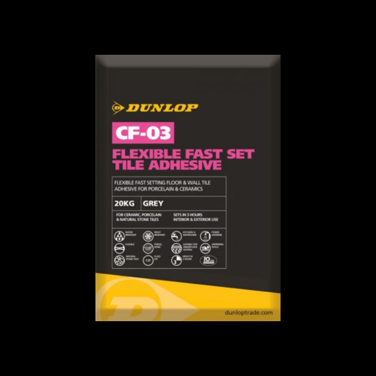 Dunlop CF-03 Flexible Fast Set Tile Adhesive Grey