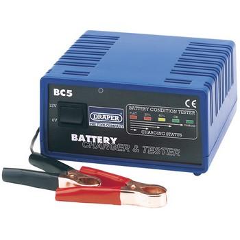 Draper Battery Charger & Tester  6V &12V    D66802