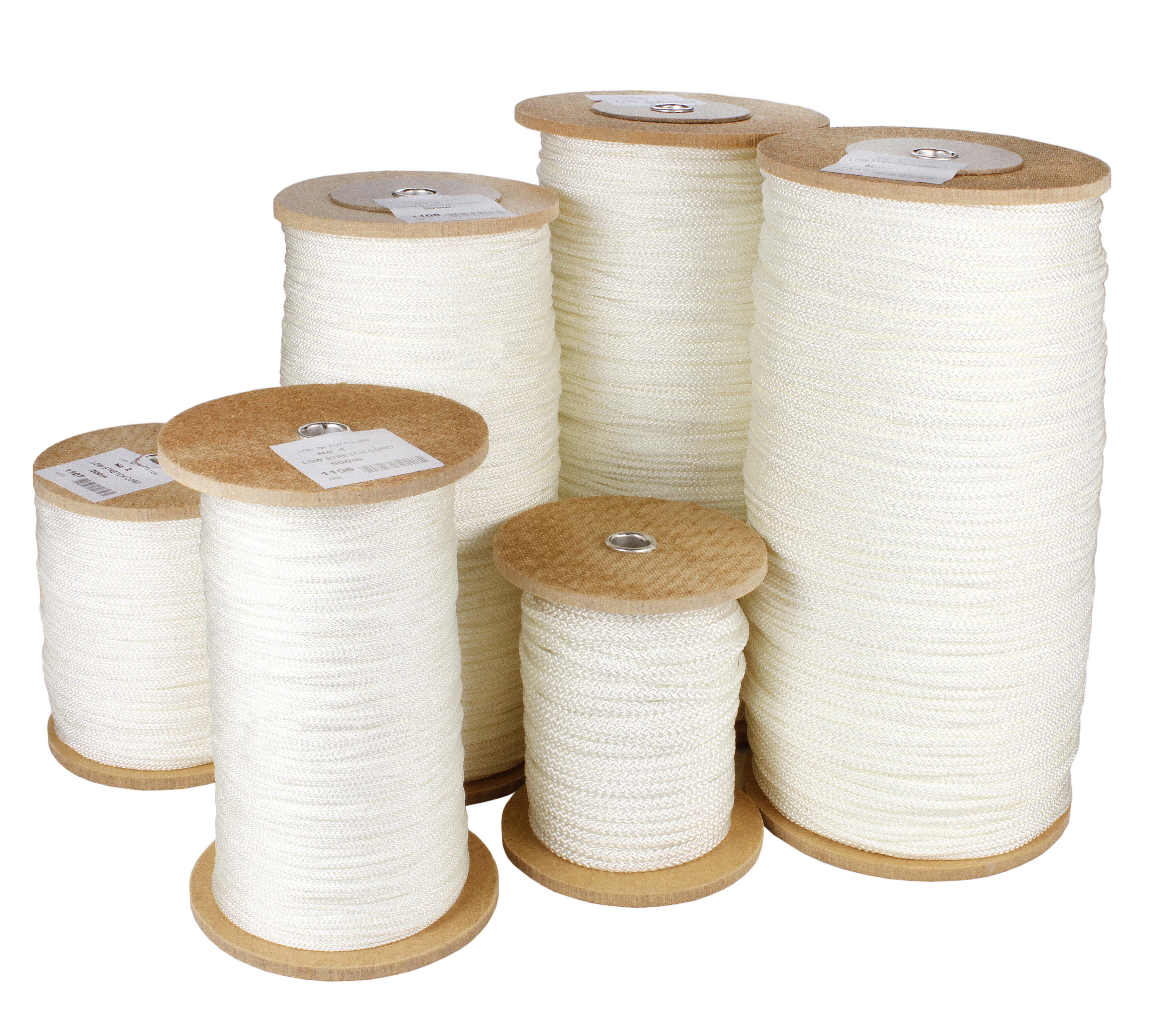 Picture Cord No.3 White Nylon (100 Metres)