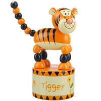 Tigger push-up wooden toy
