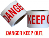 Barrier Tape Danger Keep Out White/Red 300m