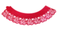 CW913 CUPCAKE WRAPPER HEARTS RED 12PK