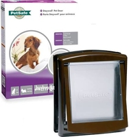 Staywell No.730 Small Dog / Cat Door + Lock Panel - Brown x 1
