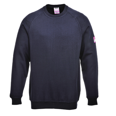 Portwest Flame Retardant Antistatic Sweatshirt Navy