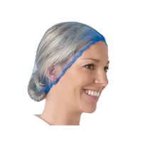 Blue Hairnet, Fine, Mesh, Detectable, 100/Ring