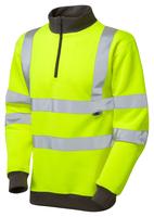 Leo BRYNSWORTHY ISO 20471 Cl 3 1/4 Zip Sweatshirt