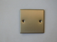 1 Gang Satin Chrome Blank Plate