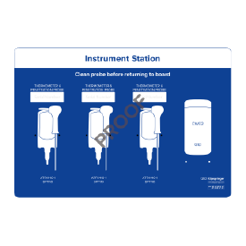 Instrument station for 3x instruments & 1x wipes