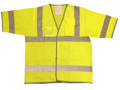 BOA High Visibility Short Sleeve Vest Class 3 Yellow or Orange