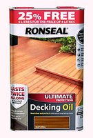 RONSEAL ULTIMATE PROTECTION DECK OIL NATURAL 4LT+25%