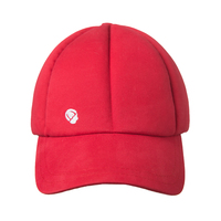 Red protective baseball cap