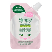 Simple Kind To Skin Moisturising Facial Wash Travel Pouch 50ml