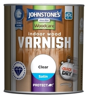 JOHNSTONES POLYURETHANE CLEAR VARNISH SATIN 250 ML
