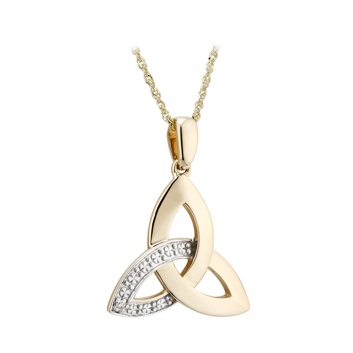 10k gold diamond trinity knot pendant s46517 from Solvar