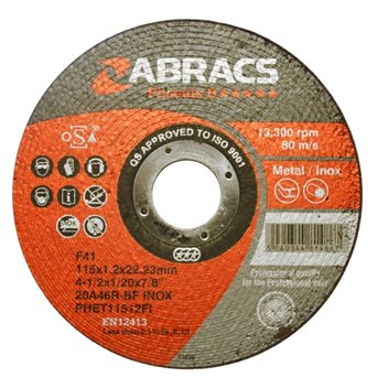 EXTRA THIN STEEL CUTTING DISC 115 X 1.0MM