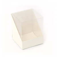 BOX PVC 100X100X120MM SOFT WHITE (pkt 10)