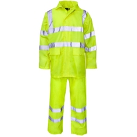 Supertouch Polyester/PVC Hi-Visibility Rainwear Rainsuit, Yellow