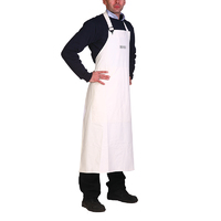 Waterproof Bib Apron - Pvc With Cotton Reverse
