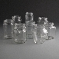Glass Jars 230ml to 320ml.