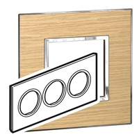 Arteor (British Standard) Plate 6 Module Round Light Oak | LV0501.2809