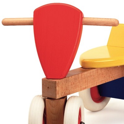 Colourful Wooden Sit and Ride Trike for toddlers