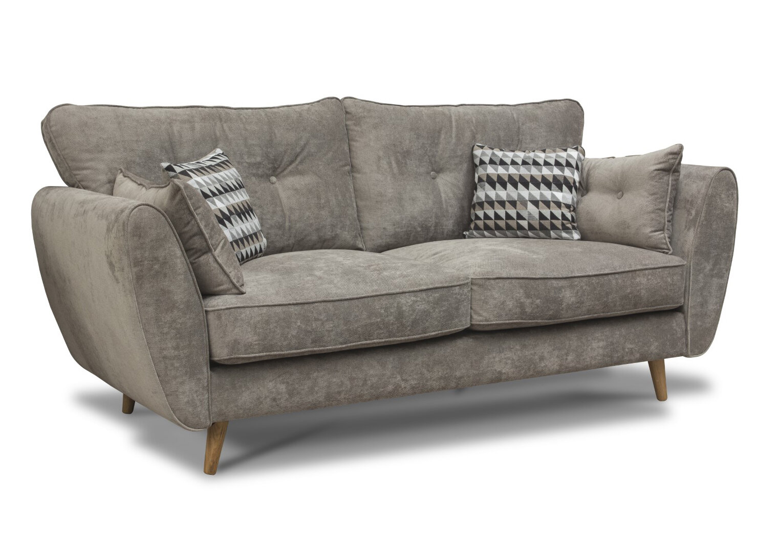 Marlo Fabric Sofa - Grey 1