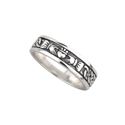 sterling silver claddagh band ring for her s2829 from Solvar