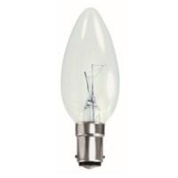 35MM TOUGH LAMP CANDLE  240/50V 40WATT SBC/B15 CLEAR