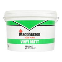 MACPHERSON VINYL MATT EMULSION  BRILLIANT WHITE 10L