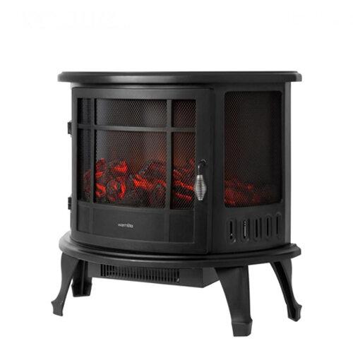 Warmlite Bath Log Effect Stove Fire Black - 1.8kw