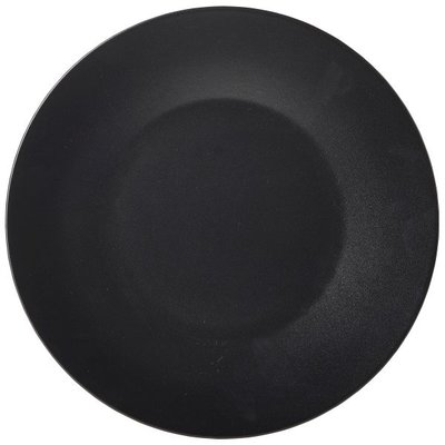 "LS Black Wide Rim Plate 21cm/8.25"" Carton of 6"