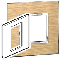 Arteor (British Standard) Plate 3 Module 1 Gang Square Light Oak | LV0501.2755