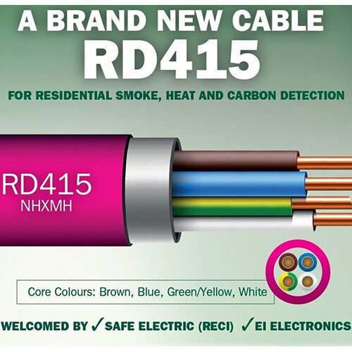 RD415 4x1.5 Pink Detector Alarm Cable