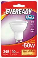 EVEREADY 5W (50W) GU10 LED WARM WHITE 345 LUMENS