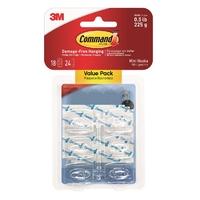 Command 18 Mini Hooks,Value pack 17006CLR-VP