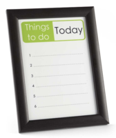 Wipeable Reminder Board