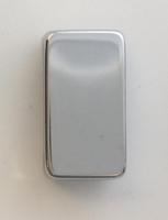 Schneider Ultimate Grid Plain rocker cap Mirror Steel|LV0701.1352