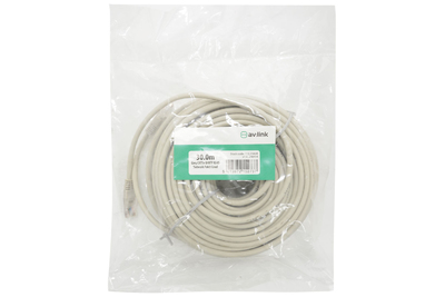 30.0m Grey CAT5e U/UTP RJ45 Network Patch Lea