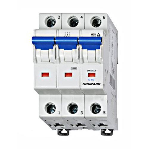 MCB, 6 Amp 3 Pole D Type