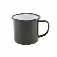 Mug Coloured Enamel Green 36cl 12.5oz