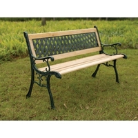 CROSS BACK GARDEN BENCH