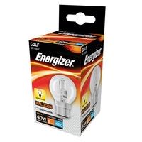 ENERGIZER ECO HALOGEN 28W (40W) B22 GOLF BALL LAMP BOXED
