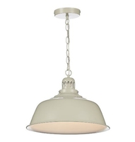 Nantucket 1 Light Pendant, Putty | LV1802.0078