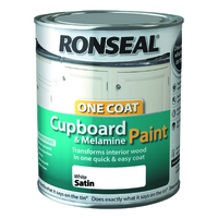 RONSEAL CUPBOARD & MDF PAINT BRILIANT WHITE 750 ML