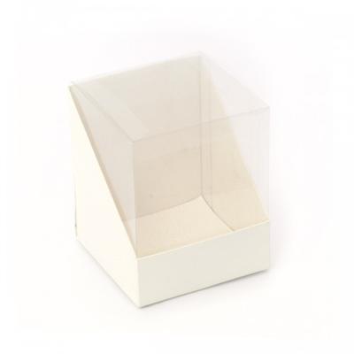 BOX PVC 110X110X165MM SOFT WHITE (pkt 10)