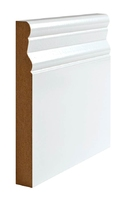 WHITE SKIRTING SQUARE PROFILE (PAO) - 143X18 - 5X3.6M PACK