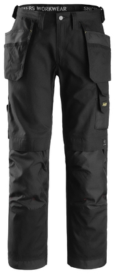 Snickers 3214 Craftsmen Holster Pocket Trousers, Canvas+ Black